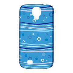 Blue Circle Line Waves Samsung Galaxy S4 Classic Hardshell Case (pc+silicone) by Mariart