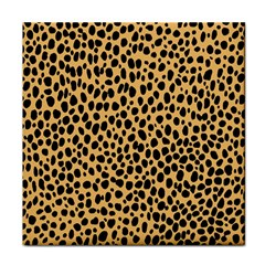 Cheetah Skin Spor Polka Dot Brown Black Dalmantion Tile Coasters by Mariart