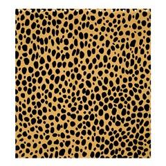 Cheetah Skin Spor Polka Dot Brown Black Dalmantion Shower Curtain 66  X 72  (large)  by Mariart