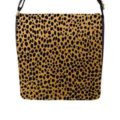 Cheetah Skin Spor Polka Dot Brown Black Dalmantion Flap Messenger Bag (l)  by Mariart