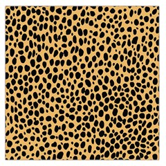 Cheetah Skin Spor Polka Dot Brown Black Dalmantion Large Satin Scarf (square) by Mariart