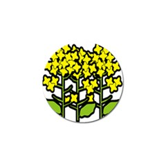Flower Floral Sakura Yellow Green Leaf Golf Ball Marker (10 Pack) by Mariart