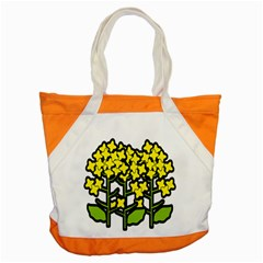 Flower Floral Sakura Yellow Green Leaf Accent Tote Bag by Mariart