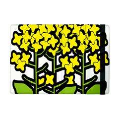 Flower Floral Sakura Yellow Green Leaf Apple Ipad Mini Flip Case by Mariart