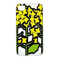 Flower Floral Sakura Yellow Green Leaf Apple Iphone 4/4s Hardshell Case With Stand by Mariart