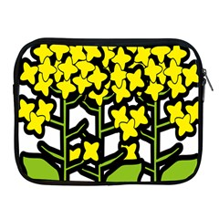 Flower Floral Sakura Yellow Green Leaf Apple Ipad 2/3/4 Zipper Cases by Mariart