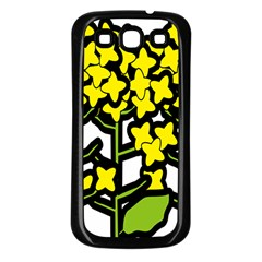 Flower Floral Sakura Yellow Green Leaf Samsung Galaxy S3 Back Case (black) by Mariart