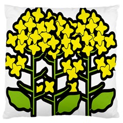 Flower Floral Sakura Yellow Green Leaf Large Flano Cushion Case (one Side) by Mariart
