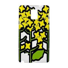 Flower Floral Sakura Yellow Green Leaf Samsung Galaxy Note 4 Hardshell Case by Mariart
