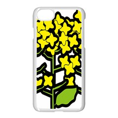 Flower Floral Sakura Yellow Green Leaf Apple Iphone 7 Seamless Case (white) by Mariart