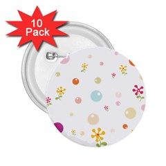 Flower Floral Star Balloon Bubble 2 25  Buttons (10 Pack)  by Mariart
