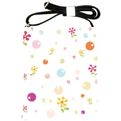 Flower Floral Star Balloon Bubble Shoulder Sling Bags by Mariart