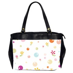 Flower Floral Star Balloon Bubble Office Handbags (2 Sides)  by Mariart