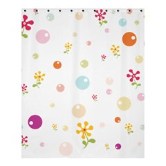 Flower Floral Star Balloon Bubble Shower Curtain 60  X 72  (medium)  by Mariart