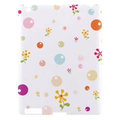 Flower Floral Star Balloon Bubble Apple Ipad 3/4 Hardshell Case by Mariart