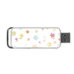 Flower Floral Star Balloon Bubble Portable Usb Flash (one Side) by Mariart