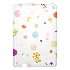 Flower Floral Star Balloon Bubble Kindle Fire Hd 8 9  by Mariart