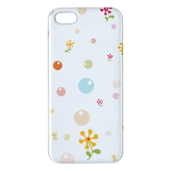 Flower Floral Star Balloon Bubble Apple Iphone 5 Premium Hardshell Case by Mariart
