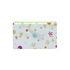Flower Floral Star Balloon Bubble Cosmetic Bag (xs) by Mariart