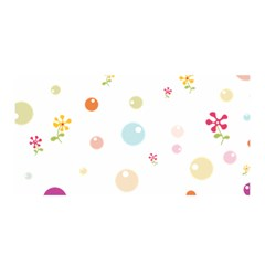 Flower Floral Star Balloon Bubble Satin Wrap by Mariart