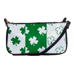 Flower Green Shamrock White Shoulder Clutch Bags by Mariart