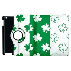 Flower Green Shamrock White Apple Ipad 3/4 Flip 360 Case by Mariart