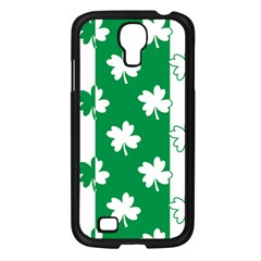 Flower Green Shamrock White Samsung Galaxy S4 I9500/ I9505 Case (black) by Mariart