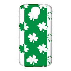 Flower Green Shamrock White Samsung Galaxy S4 Classic Hardshell Case (pc+silicone) by Mariart