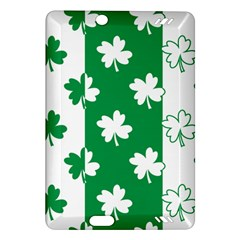 Flower Green Shamrock White Amazon Kindle Fire Hd (2013) Hardshell Case by Mariart