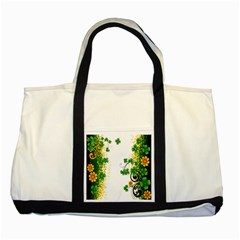 Flower Shamrock Green Gold Two Tone Tote Bag by Mariart