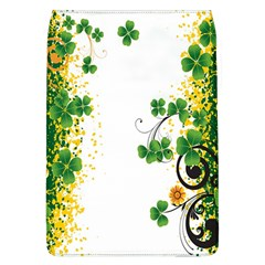 Flower Shamrock Green Gold Flap Covers (l)  by Mariart