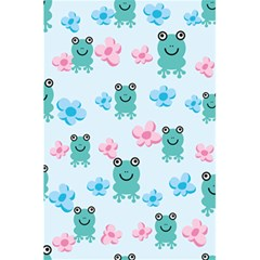 Frog Green Pink Flower 5 5  X 8 5  Notebooks by Mariart