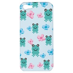 Frog Green Pink Flower Apple Iphone 5 Hardshell Case by Mariart