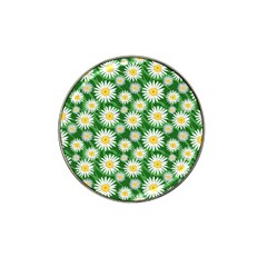 Flower Sunflower Yellow Green Leaf White Hat Clip Ball Marker by Mariart