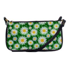 Flower Sunflower Yellow Green Leaf White Shoulder Clutch Bags by Mariart