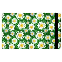 Flower Sunflower Yellow Green Leaf White Apple Ipad 3/4 Flip Case by Mariart