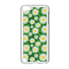 Flower Sunflower Yellow Green Leaf White Apple Ipod Touch 5 Case (white) by Mariart