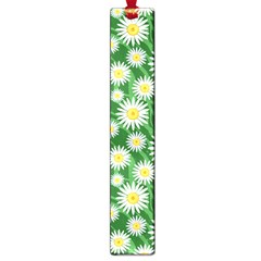 Flower Sunflower Yellow Green Leaf White Large Book Marks by Mariart