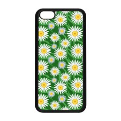 Flower Sunflower Yellow Green Leaf White Apple Iphone 5c Seamless Case (black) by Mariart