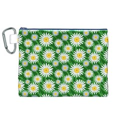 Flower Sunflower Yellow Green Leaf White Canvas Cosmetic Bag (xl) by Mariart