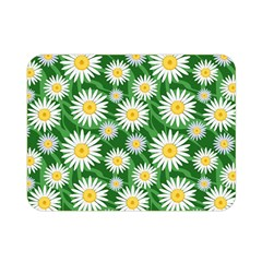 Flower Sunflower Yellow Green Leaf White Double Sided Flano Blanket (mini)  by Mariart