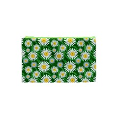 Flower Sunflower Yellow Green Leaf White Cosmetic Bag (xs) by Mariart