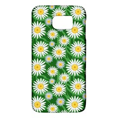 Flower Sunflower Yellow Green Leaf White Galaxy S6 by Mariart