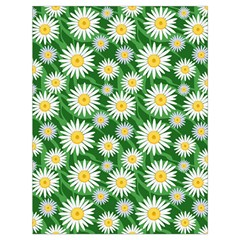 Flower Sunflower Yellow Green Leaf White Drawstring Bag (large) by Mariart