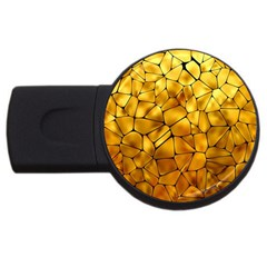 Gold Usb Flash Drive Round (4 Gb) by Mariart