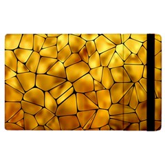 Gold Apple Ipad 2 Flip Case by Mariart