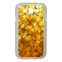 Gold Samsung Galaxy Grand Duos I9082 Case (white) by Mariart