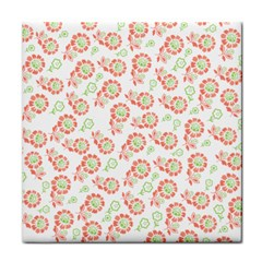 Flower Floral Red Star Sunflower Tile Coasters by Mariart