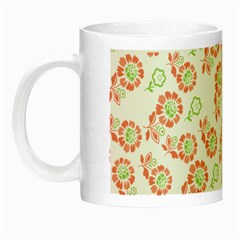 Flower Floral Red Star Sunflower Night Luminous Mugs by Mariart