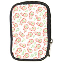 Flower Floral Red Star Sunflower Compact Camera Cases by Mariart